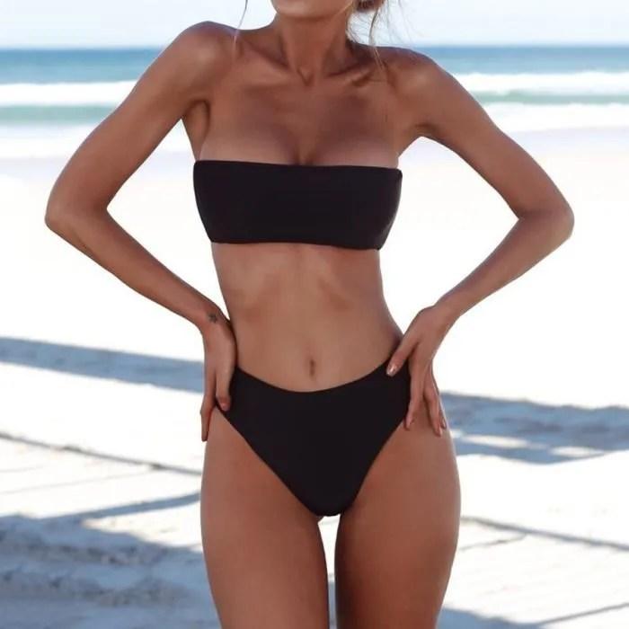 Taille Haute Bikini 2018 Maillots De Bain Femmes Push Up