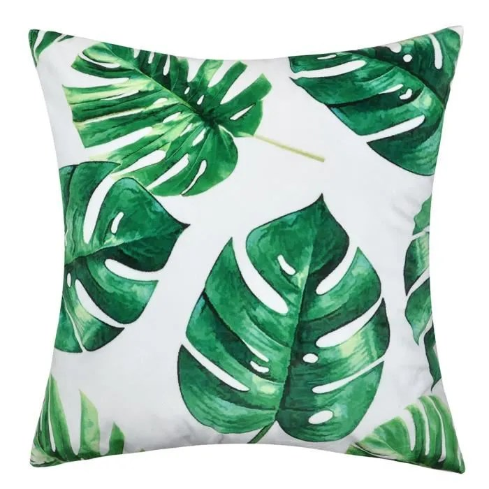 Palmes Imprimes Housse De Coussin Jungle Tropicale Taie D