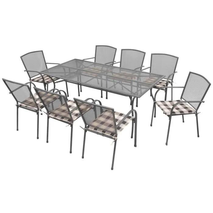 salon de jardin p36 mobilier d exterieur avec coussins 17 pcs mai