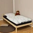 lit simple avec sommier a lattes futon en bois