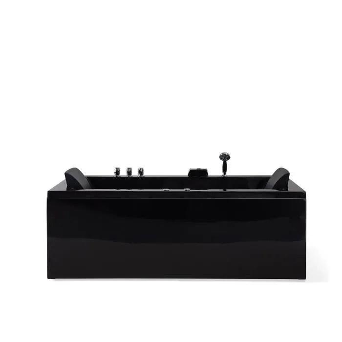 baignoire balneo cote droit noire varadero