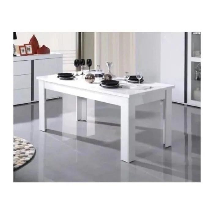 table extensible pour salle a manger avignon blanche laquee dimensions 180 220 cm avec rallonges blanc