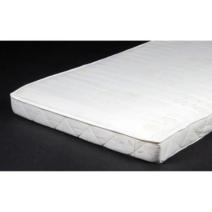 matelas roule mousse polyurethane 90x190cm menil blanc
