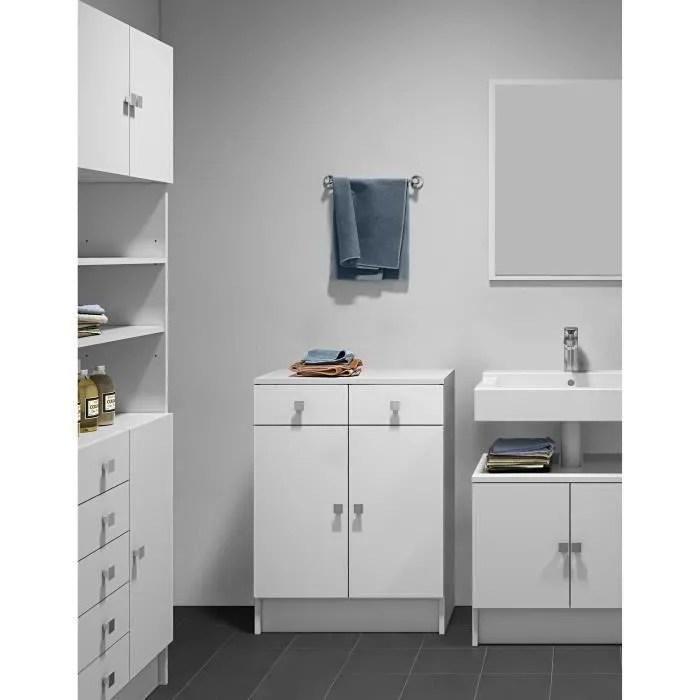 galet meuble de salle de bain l 60 cm blanc