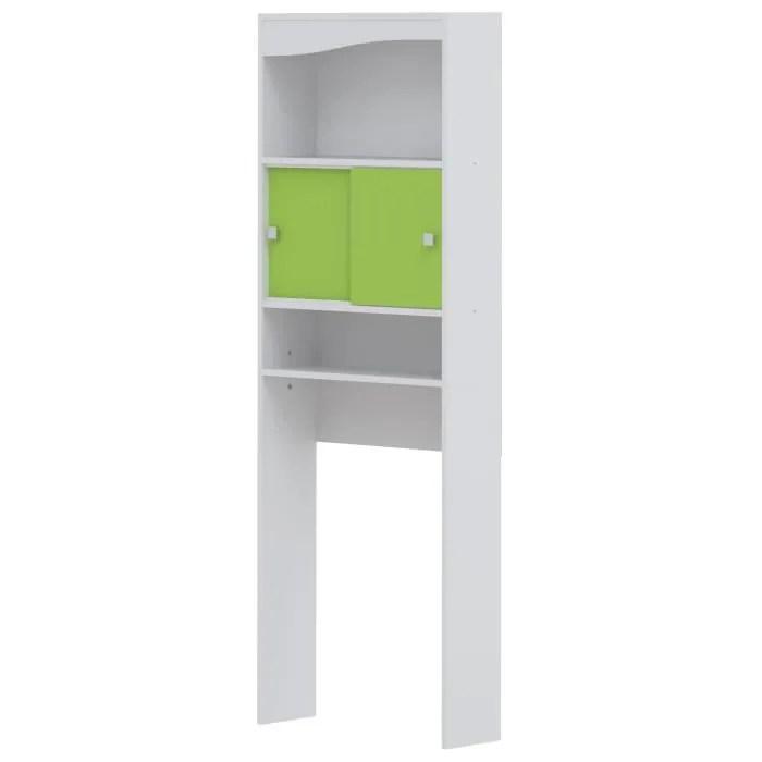 GALET Meuble WC Ou Machine Laver 64 Cm Vert Pomme