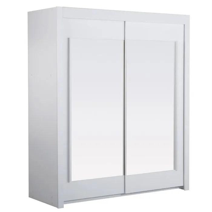armoire de chambre essentielle armoire blanche 2 portes 2 etageres