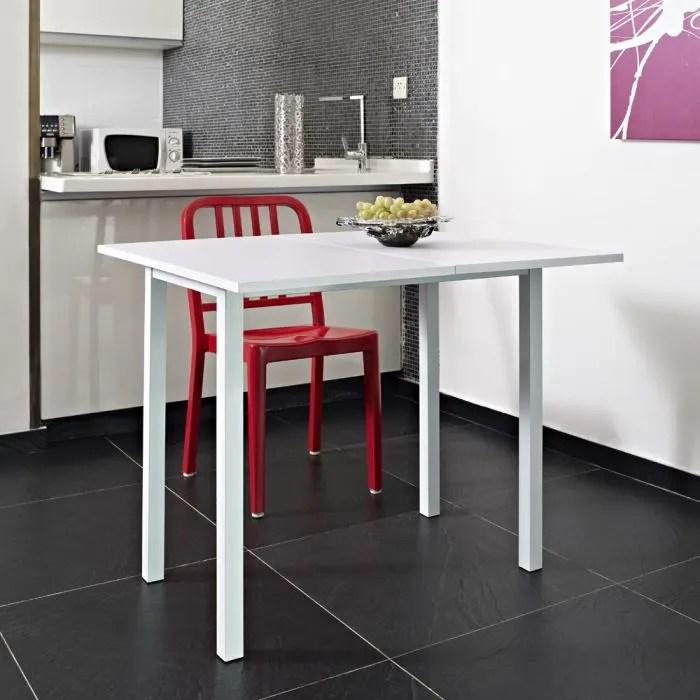 KITCHEN Table Extensible 80x4580cm Blanche Achat