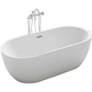 baignoire kit balneo baignoire ilot ovale design 170x80 cm en acrylique