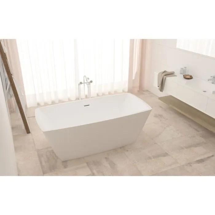 baignoire kit balneo baignoire ilot rectangulaire design 168x75 cm en a