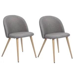 chaise zomba lot de 2 chaises de salle a manger metal r
