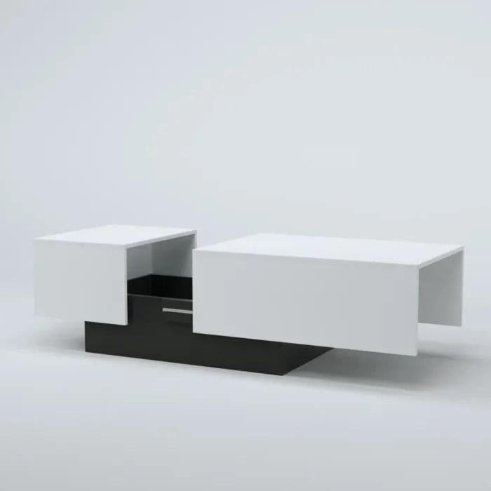 SODA Table Basse Style Contemporain Blanc L 116 150 X L 51
