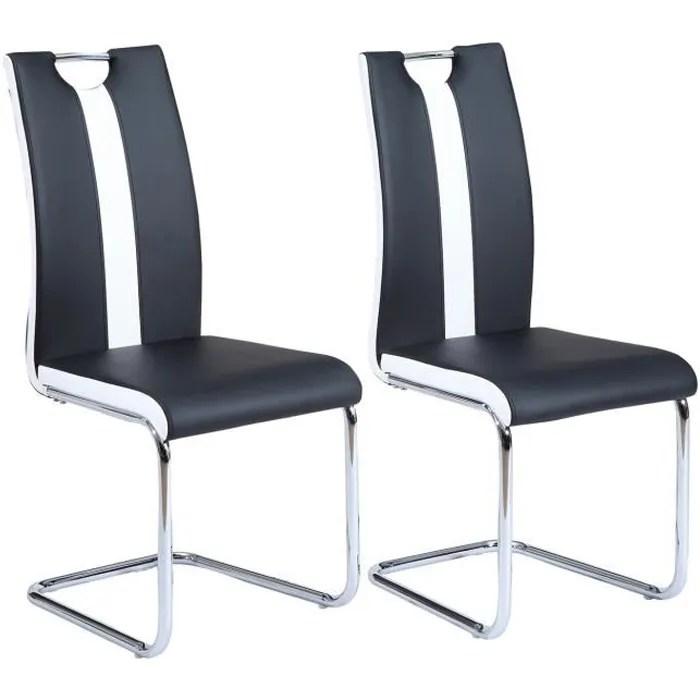 chaise jade lot de 2 chaises de salle a manger simili n