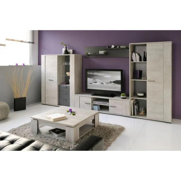 ensemble meubles de salon loft salon complet 5 pieces decor bois gris