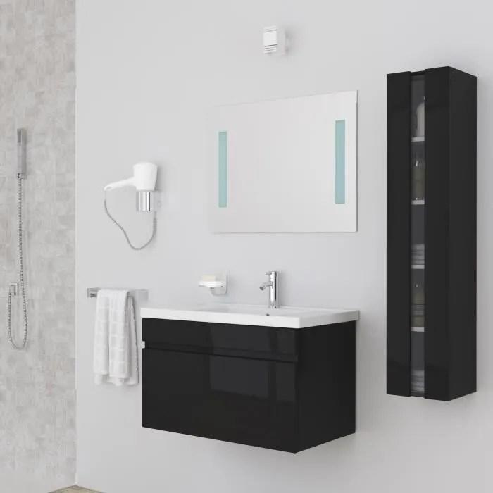 ALBAN Salle De Bain Complte Simple Vasque 80 Cm Laqu