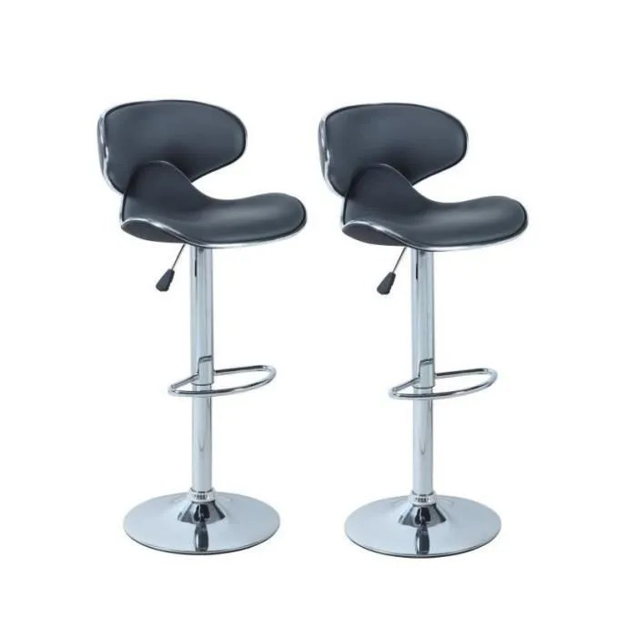 tabouret de bar york lot de 2 tabourets de bar reglables simili