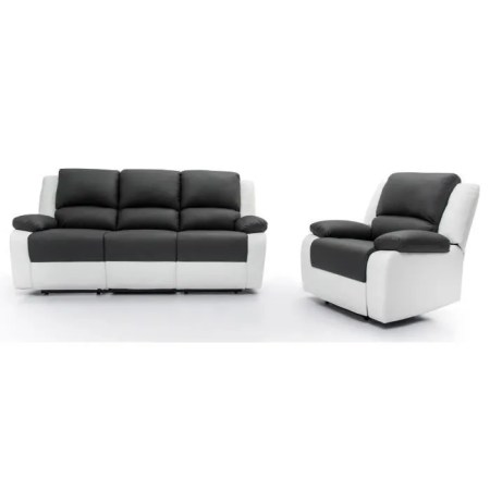RELAX Ensemble canap     relaxation 3 places   fauteuil   Simili gris     CANAP       SOFA   DIVAN RELAX Ensemble canap     relaxation 3 places   fauteu