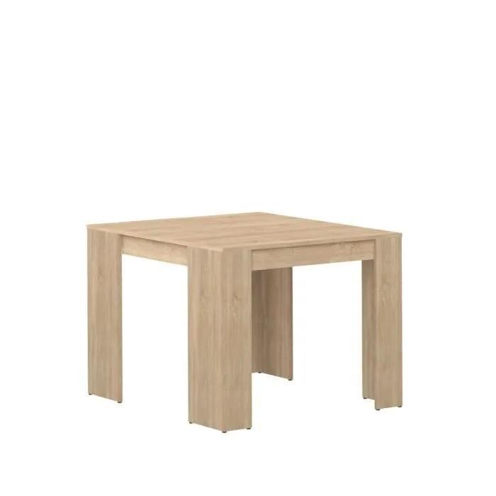 mexx table console extensible contemporain 8 personnes decor chene bardolino l 49 a 198 cm