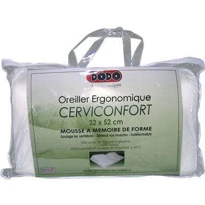 dodo oreiller 32 x 52 cm ergonomique cerviconfort