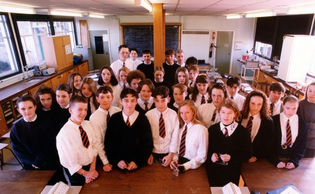 St Benet Biscop School, Bedlington, 1995  Check out how faculty uniforms within the North East have modified through the years JS98444672
