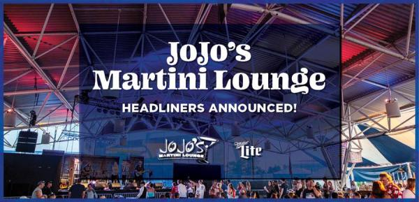 the 2021 lineup for JoJo's Martini Lounge with Miller Lite
