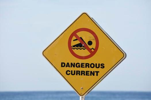 Dangerous current sign