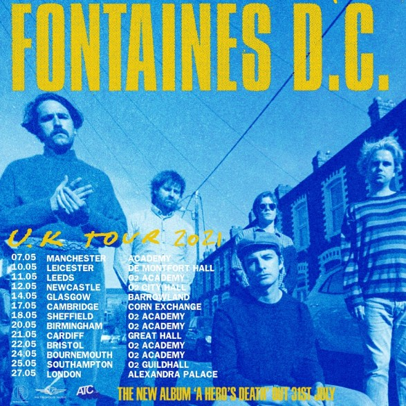 Fontaines D.C. 2021 UK tour poster
