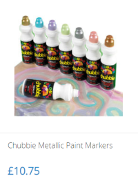 Chubbie Metallic Paint Markers