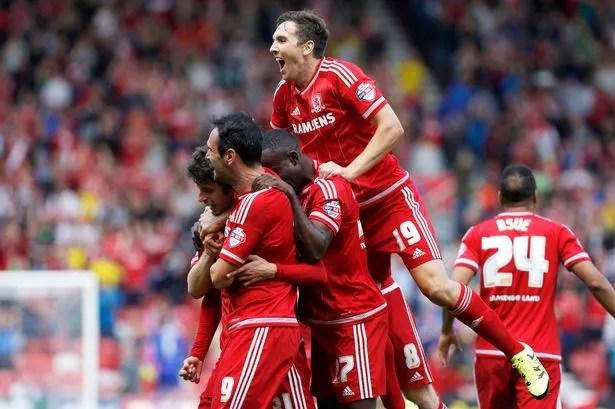 Fabbrini celebrates with teammates