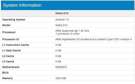Nokia: appare un nuovo modello sul sito Geekbench 1
