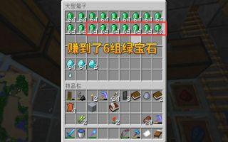 我的世界第三季78:我打袭击拿到5级BUFF,立即得到了6组多绿宝石