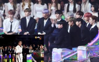 【Wanna One/小窗口】reaction to 罗夏恩舞蹈cover(181201 MMA)