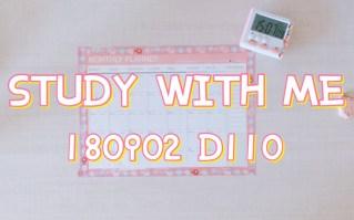 StudyWithMe   180902 D110   8H   少年只属于远方 往前吧大闹一场