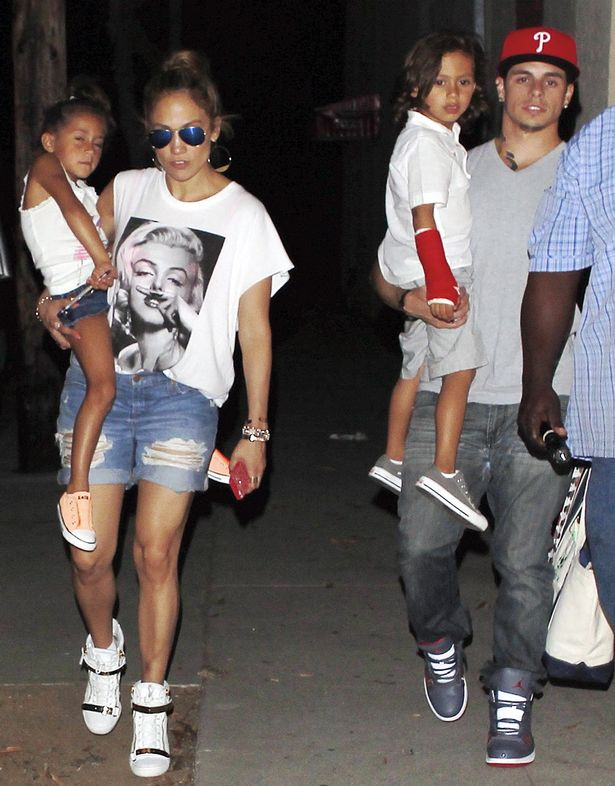 Jennifer Lopez and Casper Smart spend quality time with her twins Max and Emme