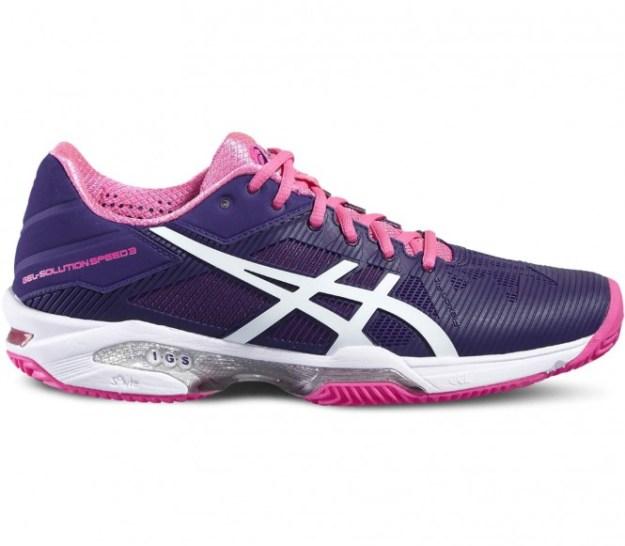 Asics - Gel-Solution Speed 3 Clay chaussures de tennis pour femmes (mauve/rose) - EU 40,5 - US 9
