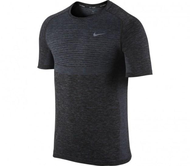Nike - Dri-Fit Knit Shortsleeve T-shirt de running pour hommes (gris foncé) - S