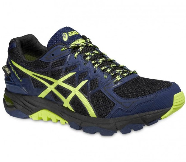 Asics - Gel FujiTrabuco 4 GTX Chaussures de running hommes (noir/bleu foncé) - EU 44 - US 10