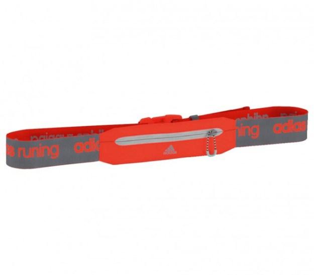 Adidas - Run Belt Ceinture de running (gris/rouge)
