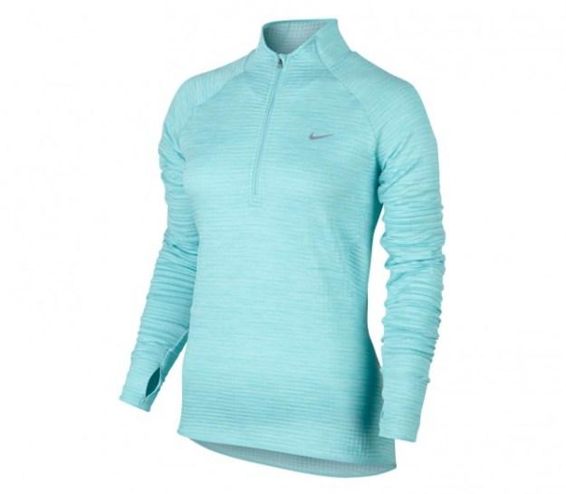 Nike - Element Sphere 1/2 Zip Longsleeve Femmes T-shirt de running (bleu clair) - L