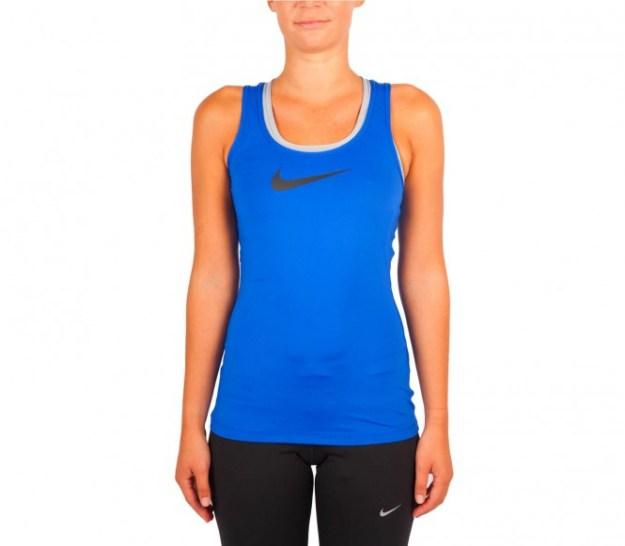 Nike - Pro t-shirt de training pour femmes (bleu/noir) - S