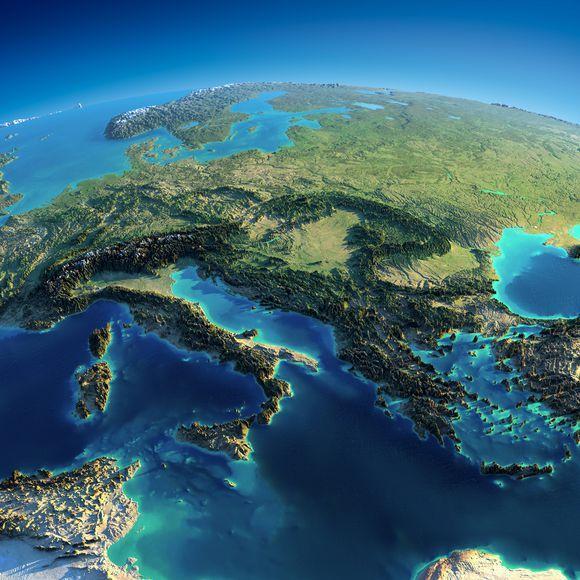 歐洲各國地形(高清地圖) - 每日頭條