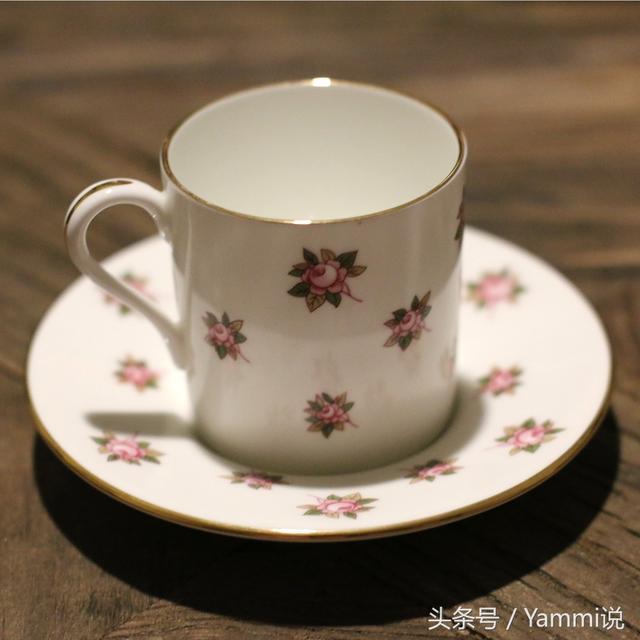 西洋老舊物 英國安茲麗Aynsley 玫瑰小花咖啡杯骨瓷套杯 - 每日頭條