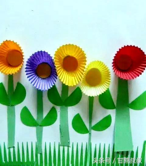 非常簡單的生日蛋糕托杯DIY製作漂亮的小花手工拼貼畫 - 每日頭條