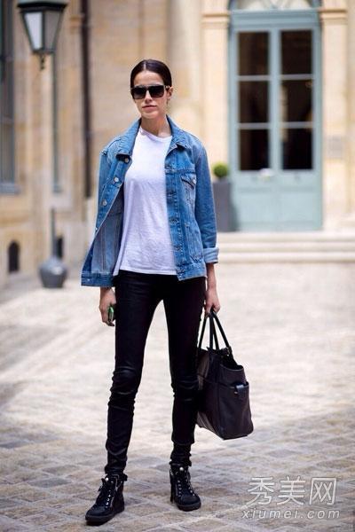 歐美街拍:黑色牛仔褲盡顯大長腿 時尚休閒搭配 - 每日頭條
