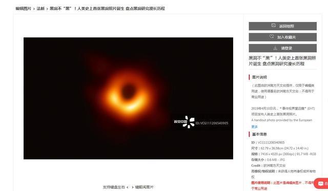 黑洞照片版權算誰的?歐洲南方天文臺:使用需標註來源 - 每日頭條