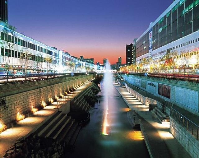 風景圖集:韓國清溪川夜景 - 每日頭條
