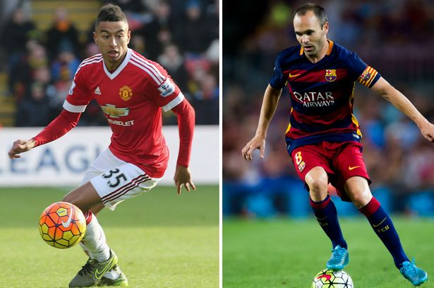Lingard has been compared to Barcelona and Spain great Iniesta