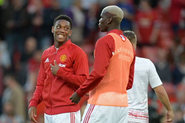 Image result for anthony martial and Paul Pogba