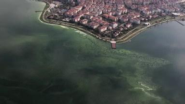 Taberiye Gölü su seviyesinin düşmüş olduğu görsel