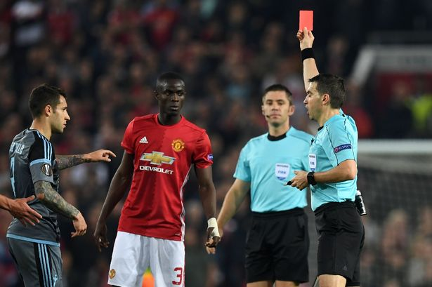 Image result for Man Utd Bailly banned for Super Cup against Real