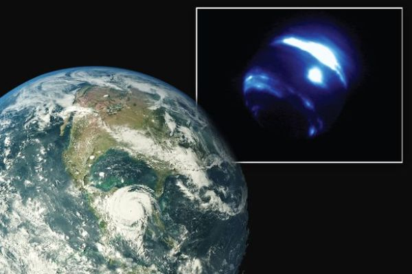 Massive storm the size of planet Earth seen swirling close ...